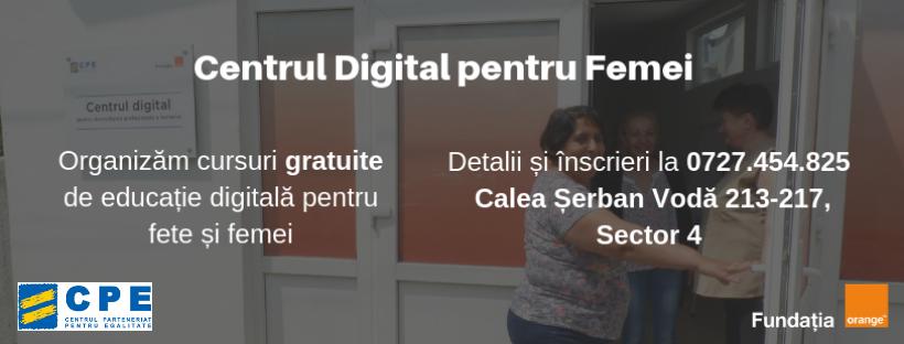 Cursuri Gratuite alfabetizare digitala pentru femei (utilizare calculator & Internet)