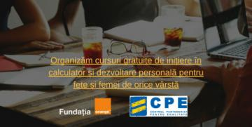 Cursuri gratuite  de initiere in calculator si dezvoltare personala pentru femei de orice varsta